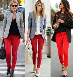 Look pantalón rojo by instalmania