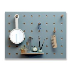 Peg-it-all Little Pegboard : Wall-mounted Storage Panel in Blue