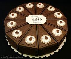 Torte Papier schoko kaffee stampin stempelhexe