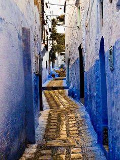 Azul de Marruecos.