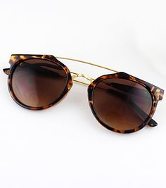 Leopard Rim Brown Sunglasses 18.26