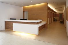 Reception Desk Design - Welcome OyunRet Office Reception Design, Office Table Design, Office Counter Design, Reception Counter Design, Clinic Interior Design, Clinic Design, Corporate Interiors, Office Interiors, Hospital Reception