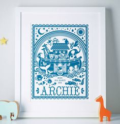 I've just found Personalised Noah's Ark Print. A beautiful, personalised Noah's ark print. This adorable Noah's ark print beautifully captures this much loved bible story. Christening Present, Different Words, Museum Of Fine Arts, Recycled Materials, Paper Size, Paper Texture, Ark, First Birthdays, New Baby Products