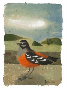 Mary Fedden - Moussier's Redstart, 1982 - Gouache