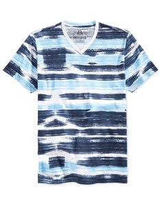 American Rag Men's Watercolor Striped T-Shirt, Only at Macy's