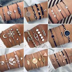2019 Bohemian Bracelets & Bangles Set Vintage Bead Boho Charm Bracelet For Women Jewelry Accessories Pulseras Mujer Bijoux Femme