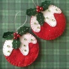 """Képtalálat a következőre: """"Felt Christmas ornaments"""""""