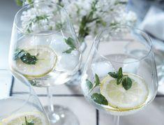 Gin med hyldeblomst og mynte - opskrift på den perfekte sommerdrink
