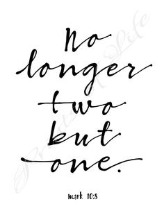 Christian printable. No longer two but one. Mark by PrintsofLife