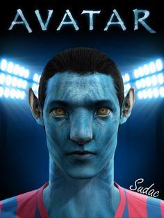 Jake Sully's Avatar face for Pro Evolution Soccer 2012