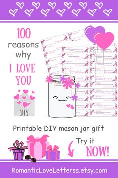 This DIY kit of 365 PRINTABLE True Love Quotes and Sayings is excellent romantic sentimental gift for couples (gift for him, gift for her)! Please visit our website to buy it now!