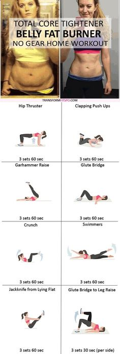 Belly Fat Workout - #womensworkout #workout #femalefitness Repin and share if this workout burned your stubborn belly fat! Click the pin for the full workout. Do This One Unusual 10-Minute Trick Before Work To Melt Away 15 Pounds of Belly Fat