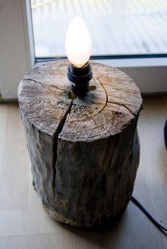 Pudel-design: DIY lamp from a tree stump...