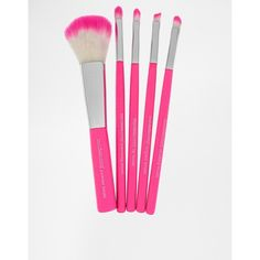 Models Own Neon 5 Piece Brush Set ($18) ❤ liked on Polyvore featuring beauty products, makeup, makeup tools, makeup brushes, fillers, beauty, accessories, travel makeup brushes, neon kit and travel kit