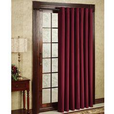 Maroon Thermal Patiodoor Curtain