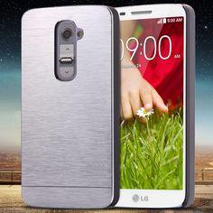 For LG G2 Aluminum Cover Fashion Slim Hard Metal Plastic Phone Case For LG Optimus G2 D802 D805 D801 D800 D803 LS980 With Logo
