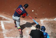 TWINS TAKE DOWN TORONTO:   Byron Buxton of the Twins grounds into a force out against the Blue Jays on Aug. 27 in Toronto, Canada. The Twins won 7-2.