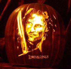 """Aragorn....on a pumpkin....enough said? =) """"Impressive, most impressive."""""""