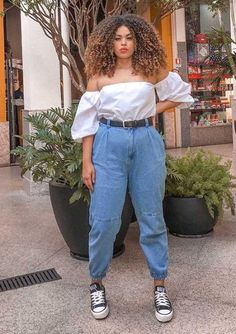 Style Outfits, Curvy Girl Outfits, Cute Casual Outfits, Pretty Outfits, Plus Size Outfits, Summer Outfits, Fashion Outfits, Jean Outfits, Chubby Fashion