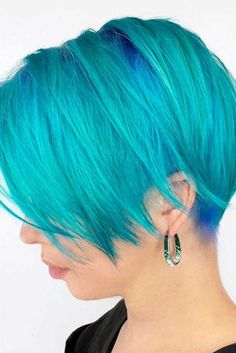 summer blue do Chic and Sexy Blue Hair Styles for a Brave New Look ★ See more: http://glaminati.com/blue-hair-sexy-styles/
