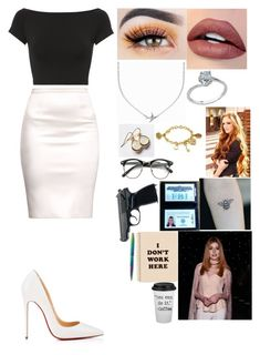 """Untitled #84"" by juliabrown833 ❤ liked on Polyvore featuring Helmut Lang, Christian Louboutin, Minnie Grace, Honour, Disney, ban.do and Fisher Space Pen"