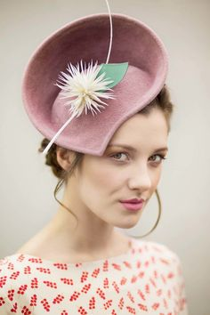 Rose Pink Hat with Jade Leaf - Jade