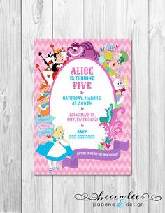 Alice In Wonderland Birthday Party Invitations Free Printables - Free birthday invitations alice in wonderland