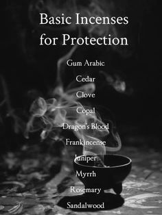 Basic incsense for protection. Why use incense? Does incense have a purpose and what does incense do for us? Magick Spells, Wicca Witchcraft, Moon Spells, Wiccan Altar, Healing Spells, Witchcraft For Beginners, Spiritual Cleansing, Herbal Magic, Protection Spells
