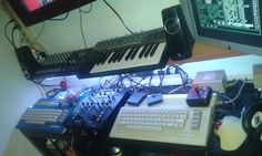 Live DJset with 2 Commodore 64 and 1 Mixer