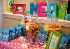 cat themed birthday party | Cat Birthday Party Theme Kitty Second 2nd Girl | Birthdays