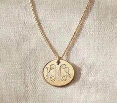 Gold Mia Pendant