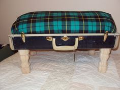 DOG BED Vintage Luggage Custom Pet Bed Upcycled Gift for Pets Pampered pets. $45.00, via Etsy.