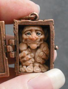 OOaK Seidh Fairy Copper Pendant Oddfae Schiller Faery