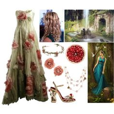 """Persephone (Goddess of Spring and the Queen of the Underworld)"" by lilacmayn on Polyvore"