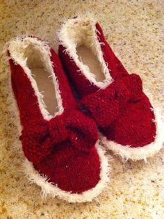 Cute Little Knits slippers in Rowan Felted Tweed & Rowan Fur