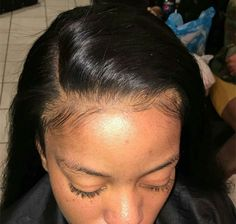 lace frontal installed #lacefrontal #natural