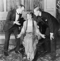 """With Lyonel Watts and Margaret Lawrence in """"Shall We Join the Ladies"""" , 1925"""