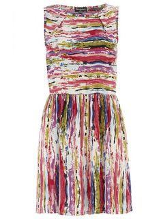 Indulgence  Multi Colour Tea Dress