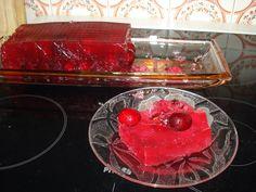 Ζελε με κερασια Frozen Yoghurt, Preserves, Jelly, Raspberry, Fruit, Cooking, Food, Kitchen, Preserve