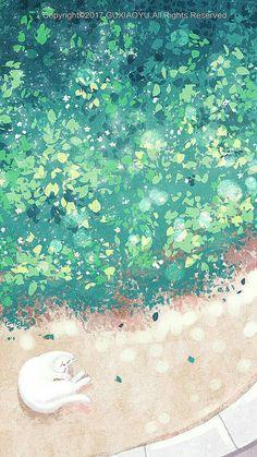 Acid Wallpaper, Kawaii Wallpaper, Colorful Wallpaper, Wallpaper Backgrounds, Japon Illustration, Anime Scenery, Storyboard, Cute Wallpapers, Cat Art