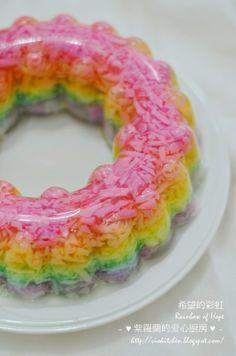 ~♥紫羅蘭的爱心厨房♥~ Violet's Kitchen: 希望的彩虹 Rainbow of Hope (燕菜/Agar-Agar)