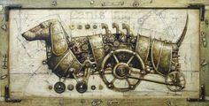 Lindas ilustrações Steampunk de Gvozdariki
