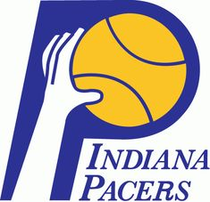 Indiana Pacers Primary Logo (1977) - A hand and a basketball inside a blue P