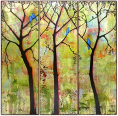 Tryptich Three Trees by Blenda Tyvoll prints from $22