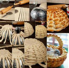 Braided bread basket This is really beautiful!  I will pin it now and make it in a few years when Gracie is able to really help me :)