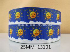 "10Y13101 kerryribbon free shipping 1"" printed Grosgrain ribbon DIY headwear ribbon and bow garment accessories"