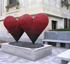Hearts  Outside the Museum of Fine Arts, Montreal.