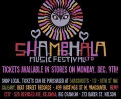 2014 Shambhala Music Festival Tickets Arrive in Stores! Ticket Design, Music, Musica, Musik, Muziek, Music Activities, Songs