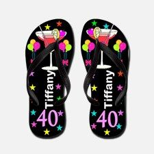 40th Party Flip Flops Every 40 year old will love celebrating their 40th with this original personalized 40th birthday flip flops. http://www.cafepress.com/flipflopfrenzy/12586403  #40yearsold #Happy40thbirthday #40thbirthdaygift #40thflipflops #Personalized40th #Happy40thflipflops