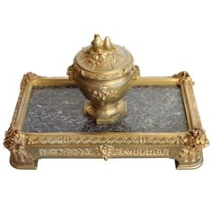 For Sale on 1stdibs - Beautiful Bronze Inkwell with 'Love Birds' by 'Barbedienne'. The F. Barbedienne Foundry, Paris was one of the few foundries to survive the Revolution and